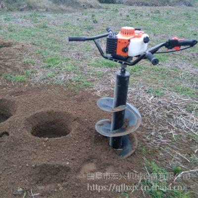 田园种植汽油式挖坑机 便捷式小型汽油打坑机 树苗种植刨坑机