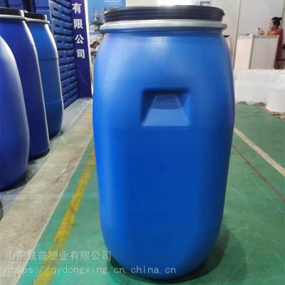 山东河北辽宁晟普HDPE100L大口包箍塑料桶