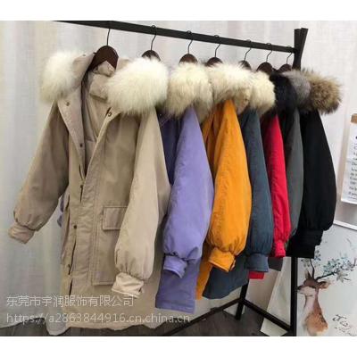 广州工厂清货女装棉衣地摊拿货批发便宜羽绒服10-30元库存外套清仓厂家直销