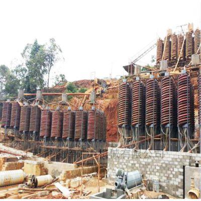 江西溜槽选矿设备厂家 去煤矸石 选金螺旋溜槽批发