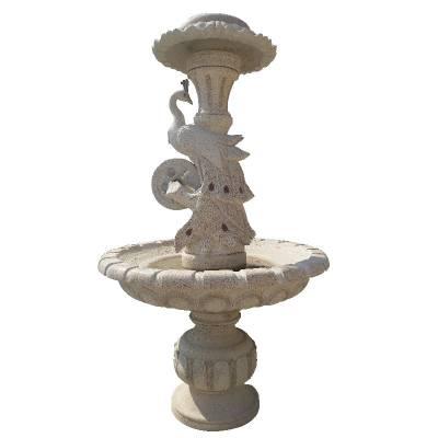 厂家供应大型园林石雕水钵 汉白玉 大理石跌水喷泉 艺术喷泉