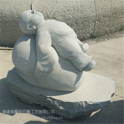 惠安厂家供应石雕小沙弥 花岗岩石雕小和尚佛像定做
