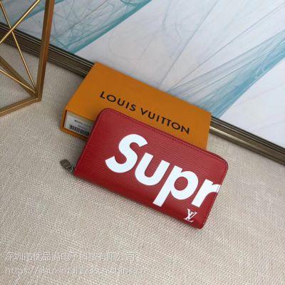 Louis Vuitton Zippy Organizer LV联名supreme潮牌黑色手拿包
