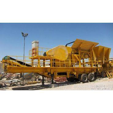 南通时产50-200吨石料制砂机,沙石制砂移动式破碎机,方大车载成套石子粉碎站