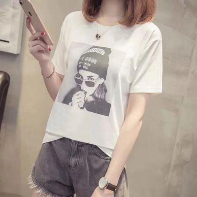 便宜女士T恤夏季短袖时尚韩版女装T恤库存服装清货5元以下纯棉T恤清