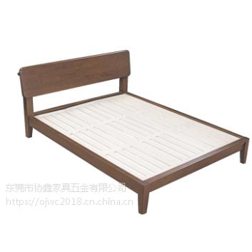 全实木床1.8米1.5米新中式胡桃木双人床北欧现代简约轻奢卧室婚床