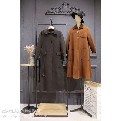 谷可哪里的品牌折扣女装好折扣 杭州尾货库存女装批发棕色针织衫