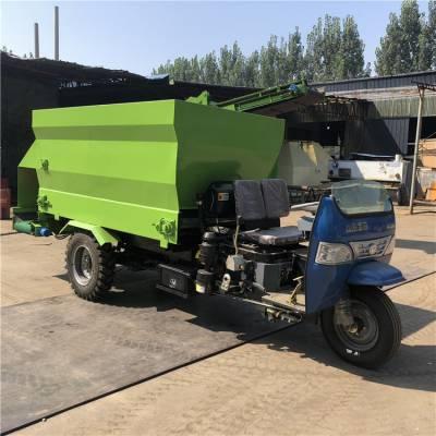 自动混料效率高撒料车 草料精料喂料车 移动式喂牛撒料车