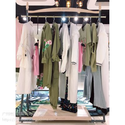 【玛丝菲尔】2019春夏装新款高端大气女装品牌专柜剪标正品100件起批