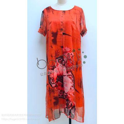 杭州汉派大码女装韩版气质OL通勤纯色连衣裙女装品牌折扣