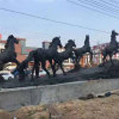 2米铜马雕塑定做-铜雕塑厂批发销售-烟台2米铜马雕塑