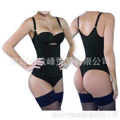 束身衣 橡胶美体衣 塑身衣 三角开档连体塑身衣 一件代发