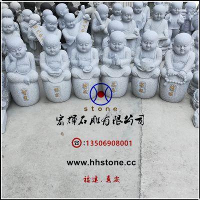 石头雕制六度小沙弥(六度童子)60公分高