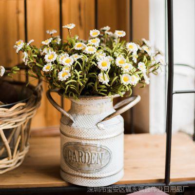 定做田园家居饰品雏菊仿真花套装假花手工花写意客厅干花摆设