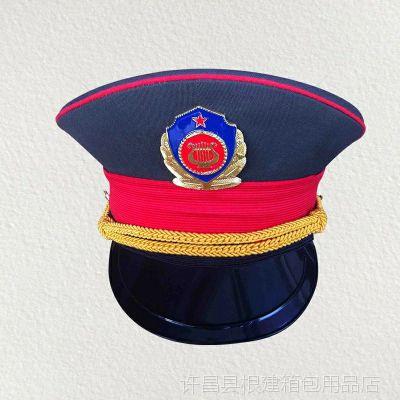 民间乐队军乐队大檐帽大盖帽仪仗队国旗班演出服帽子礼仪帽保安帽