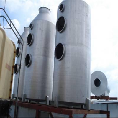 安来环保生产不锈钢脱硫塔 耐高温喷淋塔 砖窑厂脱硫塔厂家