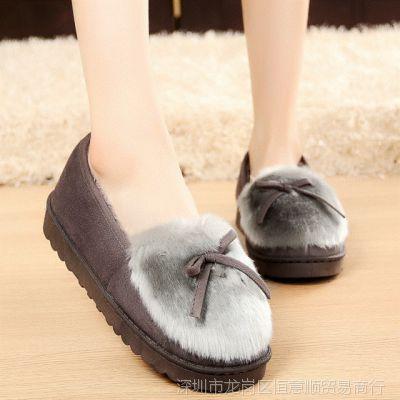 棉拖鞋女室内加绒保暖居家拖鞋冬季厚底月子鞋家居棉鞋保暖鞋包跟