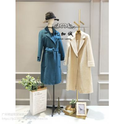 杭州高端专柜品牌阿尔巴卡大衣女装折扣厂家直供货源