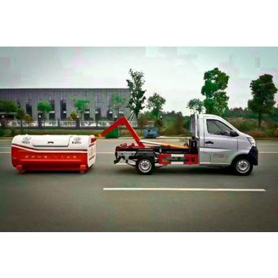 郑州市16吨级勾臂垃圾车价格,小型勾臂垃圾车