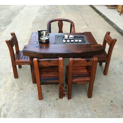 古雅居船木家具批发实木茶桌茶台茶几客厅茶几功夫泡茶桌茶艺桌茶桌椅组合