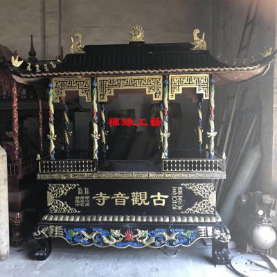 供应铸铁长方形带盖香炉 江西九江寺庙香炉报价