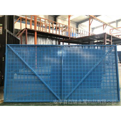 镀锌建筑爬架网-喷塑5015蓝色外架网-全钢爬架网片现货