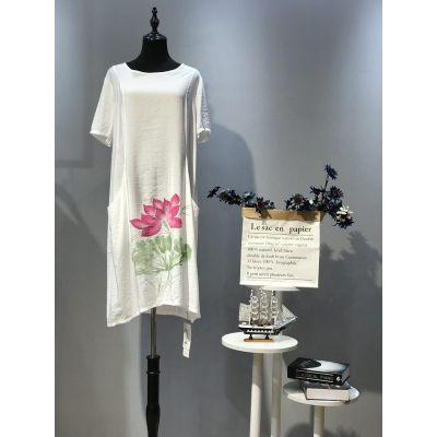初禅依原创设计风格品牌夏季连衣裙供货平台