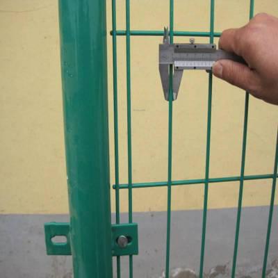 江苏双边丝护栏网 浸塑钢丝护栏网价格规格材质 河北优盾双边丝道路护栏