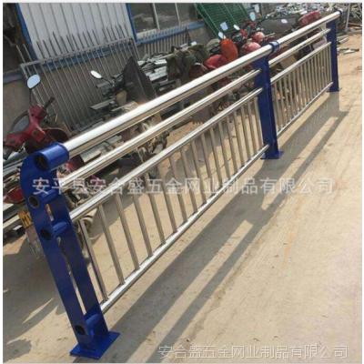 不锈钢复合管河道栏杆定制生产