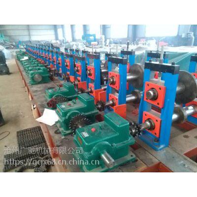 沧州广驰厂家定做链条式41*41抗震支架成型机设备