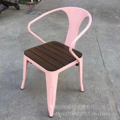 倍斯特简约现代金属餐椅创意中餐小吃烧烤火锅店厂家定制