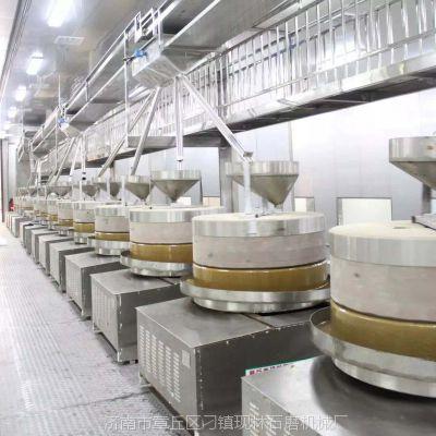 现林石磨厂家直销芝麻酱花生酱香油石磨一机四磨以及一机多磨设备生产线
