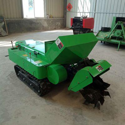 花园管理旋耕除草机 履带自走式开沟施肥机