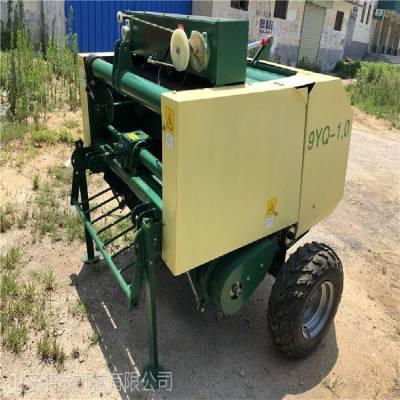 农作物秸秆打包打捆覆膜机 可储存养殖饲料打捆机