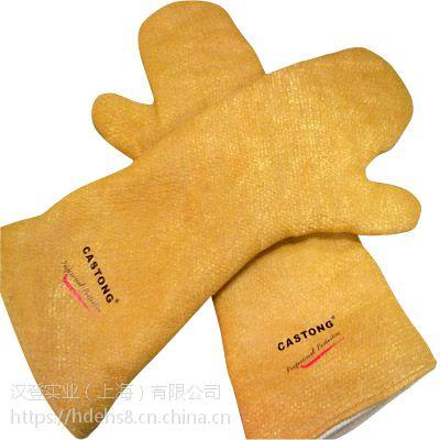 HD汉登隔热手套代尔塔204208 A级双层牛皮耐高温手套