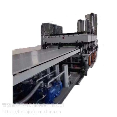 青岛合塑塑机新型SJ-120/33PP中空建筑模板生产线公司