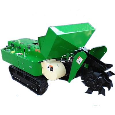 茶园苗圃管理开沟机 自走式履带施肥回填一体机