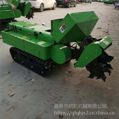 多功能农田施肥机 自走式履带回填机 小型自走式开沟机厂家