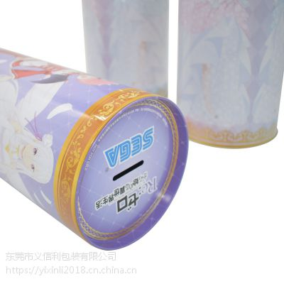 义信利y125日本动漫周边玩偶手办铁罐 大号存钱罐订做 成人用品铁罐生产厂家 服装包装罐
