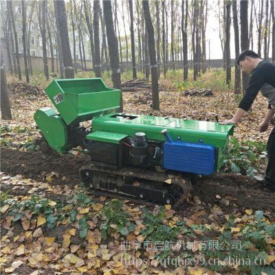 宁夏柴油大马力履带开沟机 多功能果园施肥机 启航多用除草机价格