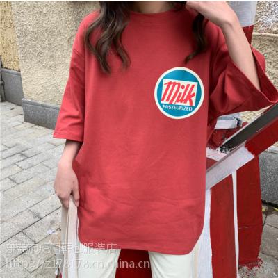 广州沙河十万件库存纯棉T恤低价处理夏季摆地摊便宜T恤尾货处理2元清
