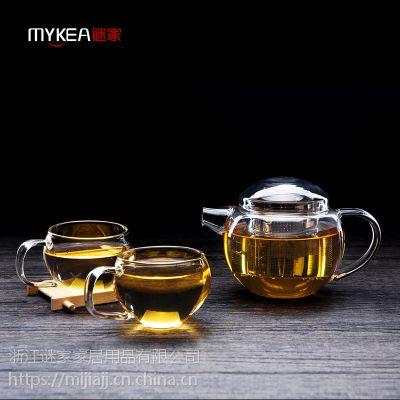 谜家/MYKEA 550ml高硼硅耐热玻璃大圆壶BH178501