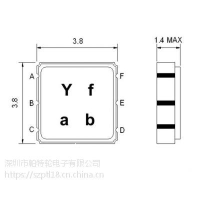 声表滤波器 SA382BP 380-385MHz SAWNICS 3.8*3.8mm集成电路(IC)