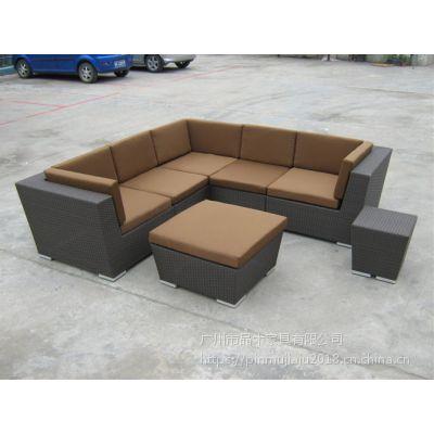 厂家生产铝合金藤椅茶几三件套PE黑色藤桌椅子成套餐桌椅来图定制