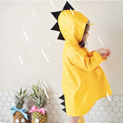 卡通飞碟帽连体潮流透气中大童网红儿童雨衣女童幼儿园时尚日本小