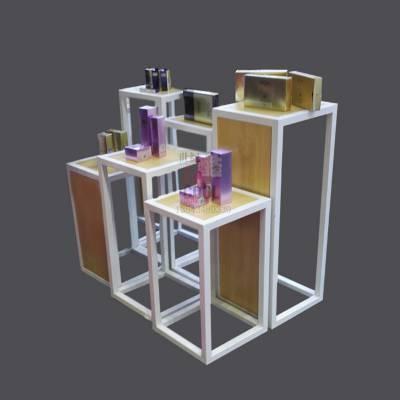 化妆品展示架流水台促销展架高低展台服装店橱窗展示柜包包展示台