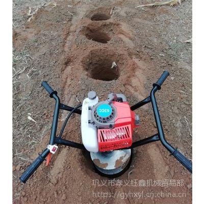 建塑料大棚埋水泥柱用什么挖坑更便捷?手提挖坑机
