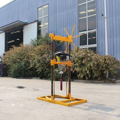 山区便携式取样钻机 30米背包钻机 勘探取样钻机厂家直销7.75马力科勒汽油机动力