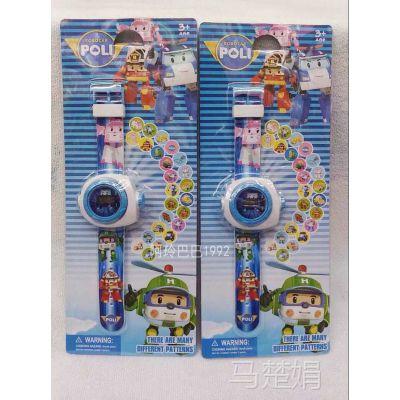 Poli 珀利 机器人儿童卡通手表投影手表20图任换奖品生日礼物