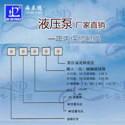液压泵马达-海兰德液压(在线咨询)-垦利液压泵